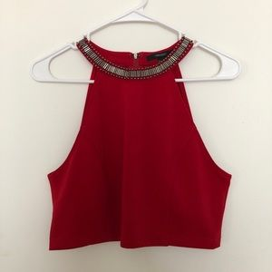 Forever 21 high neck crop top, size large